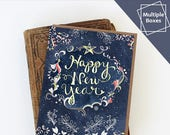 Starry Happy New Year Boxed Sets of Greeting Cards - Happy New Year Cards, Paper goods, Stationery, Stars, Multiple boxes discount
