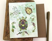 Father's Day Turtle Card - Father's Day Card, holiday, paper goods, turtles