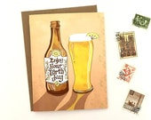 Beer Card - Enjoy Beer Greeting Card, hefeweisen, paper goods, greeting cards, drink cards