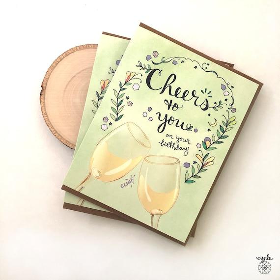 CAMILLA /& rose blanc Carte de Vœux-vin