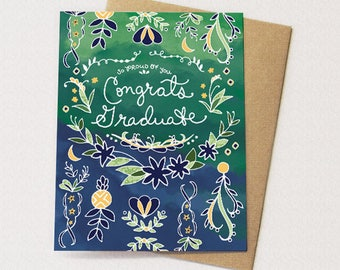 Graduation Card - Proud Graduate Greeting Card, Congrats Graduate, Congratulations Graduation Greeting Card