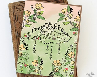 Congratulations Greeting Card, Congrats Card, Congratulations baby, Congratulations home, Graduation, Greeting Cards, Paper goods