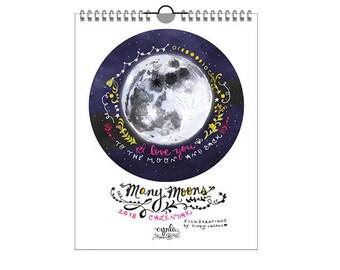 SALE Many Moons Calendar 2018 - moon calendar - full moon - 2018 calendar