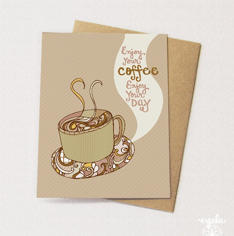 Enjoy your COFFEE Card  blank inside image 0