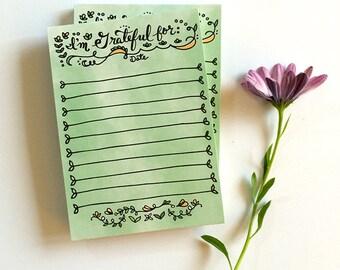 Gratitude Notepads - grateful for notepad, motivational list notepad stationery