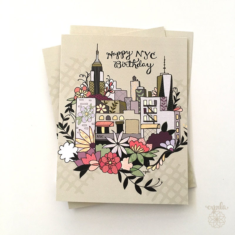 New York City Card Happy NYC Birthday