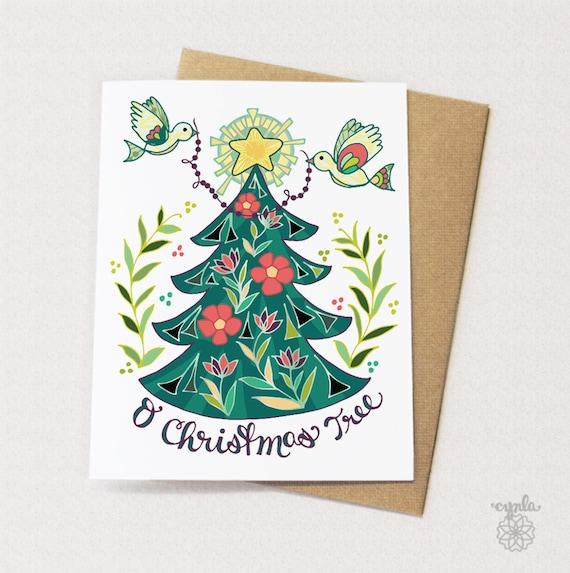 Best Christmas Cards.O Christmas Tree Greeting Card Christmas Card Modern Holiday Card