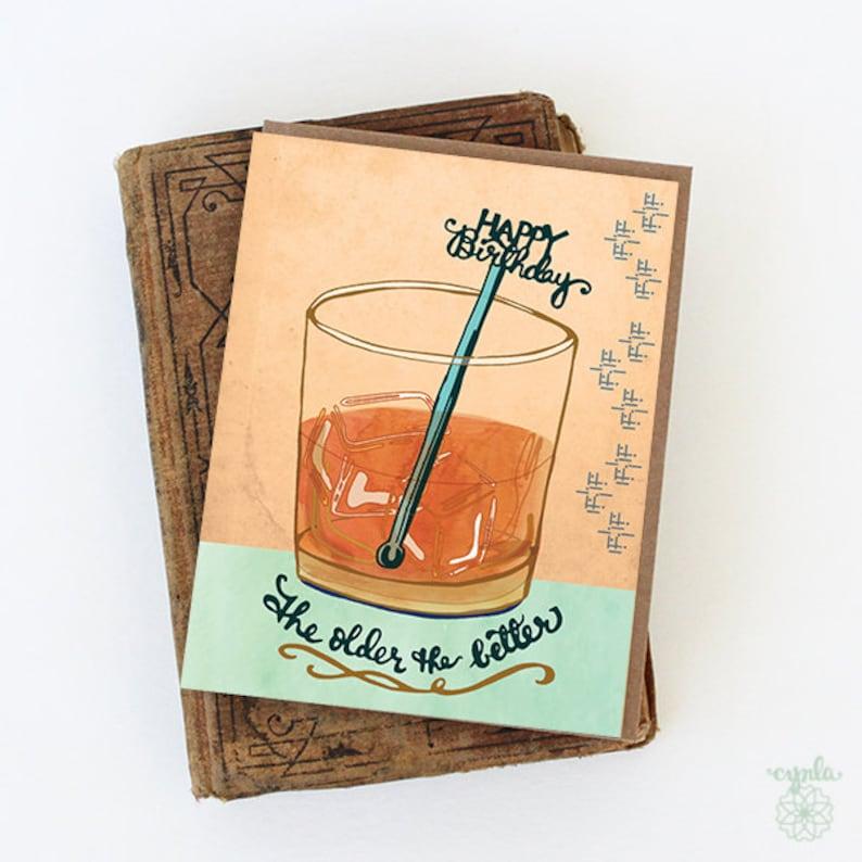 Whiskey Birthday Card  whisky birthday card happy birthday image 0