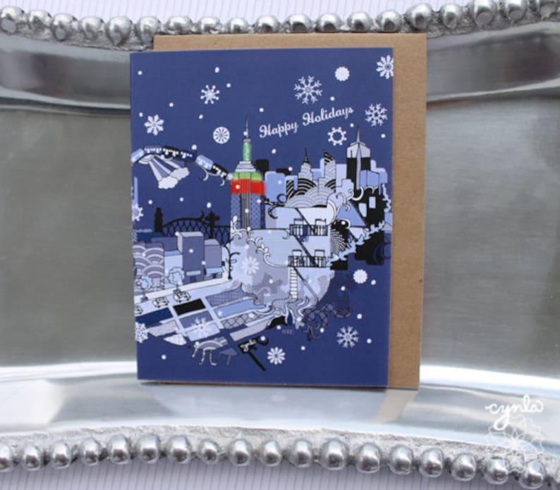 NYC Christmas Card // New York City Holiday Card Xmas New image 0