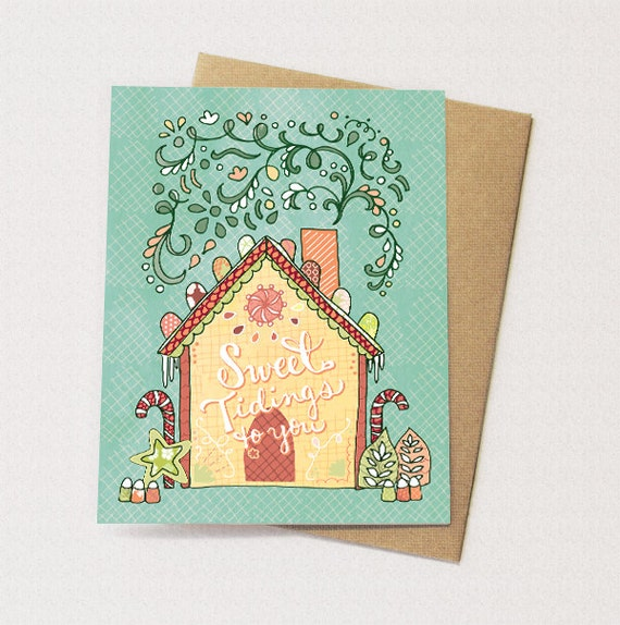 gingerbread house greeting card gingerbread holiday card