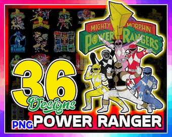 36 Power Ranger Png Bundle, Logo Power Rangers, Hero's Faces, Power Rangers Png, Dino Rangers Png, Sublimation Designs, Digital Download