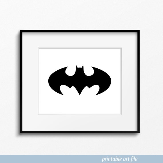 image relating to Batman Symbol Printable known as Printable Batman Logo Print, Dim Knight Logo, Batman Symbol, Batman Print, Batman Artwork, Batman Wall Artwork, Printable Artwork, Downloadable Artwork