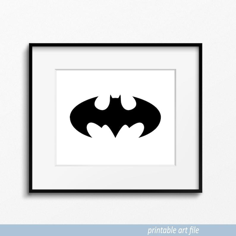 photo regarding Batman Logo Printable named Printable Batman Logo Print, Dim Knight Logo, Batman Brand, Batman Print, Batman Artwork, Batman Wall Artwork, Printable Artwork, Downloadable Artwork