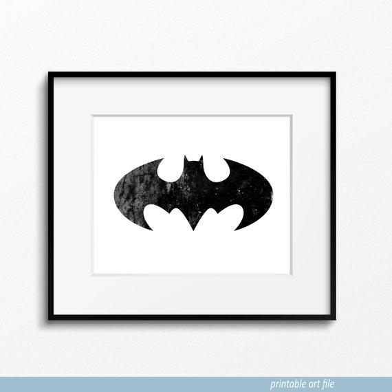 Printable Distressed Batman Symbol Distressed Dark Knight Etsy