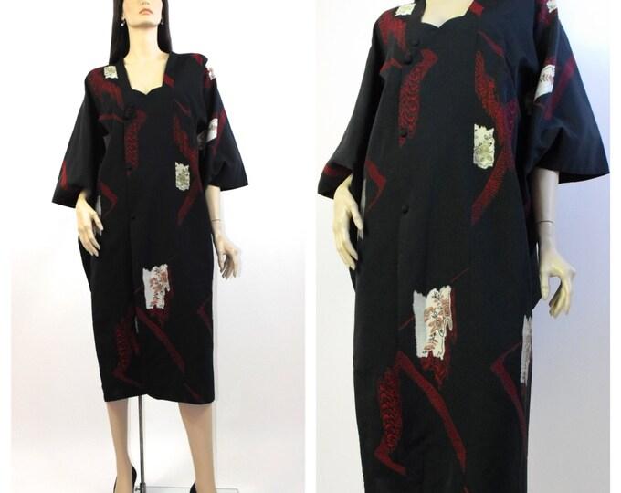 1940's Kimono Dress // Ladies Vintage Kimono Coat // Kimono Cocktail Coat
