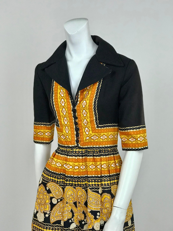 1d64835042c Designer Vintage 1970 s Oscar De la Renta Boutique Paisley Border Print  Palazzo Pant Jumpsuit - Ladies Size Small. gallery photo ...