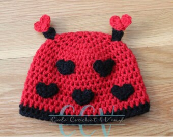 Valentines Day Love Bug Hat (Baby)