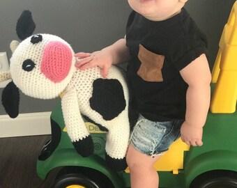 Crochet Cow Stuffy
