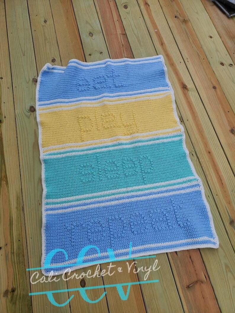 Eat Play Sleep Repeat Crochet Baby Blanket image 0