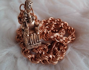 Bronze Seated Odin Chain