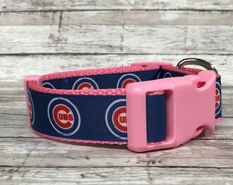 on sale f962d 0547f Cubs dog collar   Etsy
