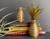 Vintage Brass Pineapple Candlestick Holders (2), Mid Century Pineapple Interior Design Home Decor, Pineapple House Warming, Candlestick