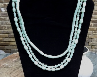 Crisp and cool mint green beaded necklace