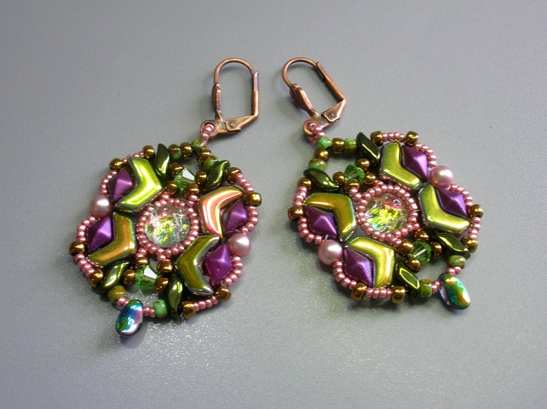 Arcos and GemDuo beads beading tutorial bracelet Matrix Tutorial Zoliduo Ava beads Honeycomb
