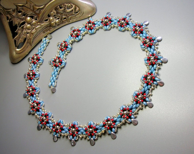 Tutorial - Melody Necklace - Trinity, Seed beads, Pips and Superduo beads