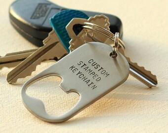 642c3c75087c Personalized Keychain Bottle Opener Steel
