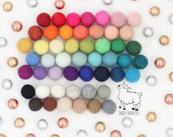 Custom Gold or Silver or Rose Gold and Felt Ball Garland-  Design Your Own Garland with Metallic Accents- Metalalic Felt Ball Garland