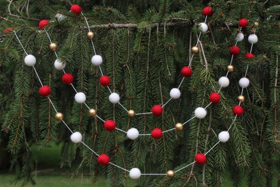 Extra Large Vintage Style Metal Candy Cane Christmas Garland Bunting Decoration