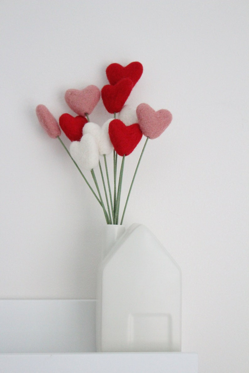 Hearts Valentines Day bouquet
