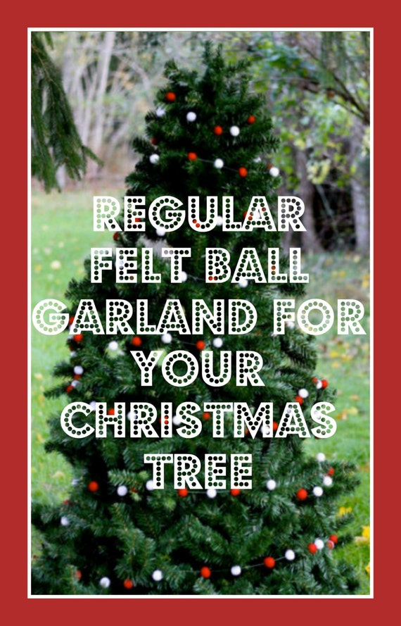 12 Foot Christmas Tree.Felt Ball Garland Christmas Tree Garlands To Cover Your Christmas Tree Select Your Garland Style And Tree Size