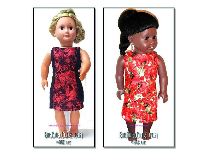 18 Doll Clothes Sleeveless Knee Length Dress w/ image 0