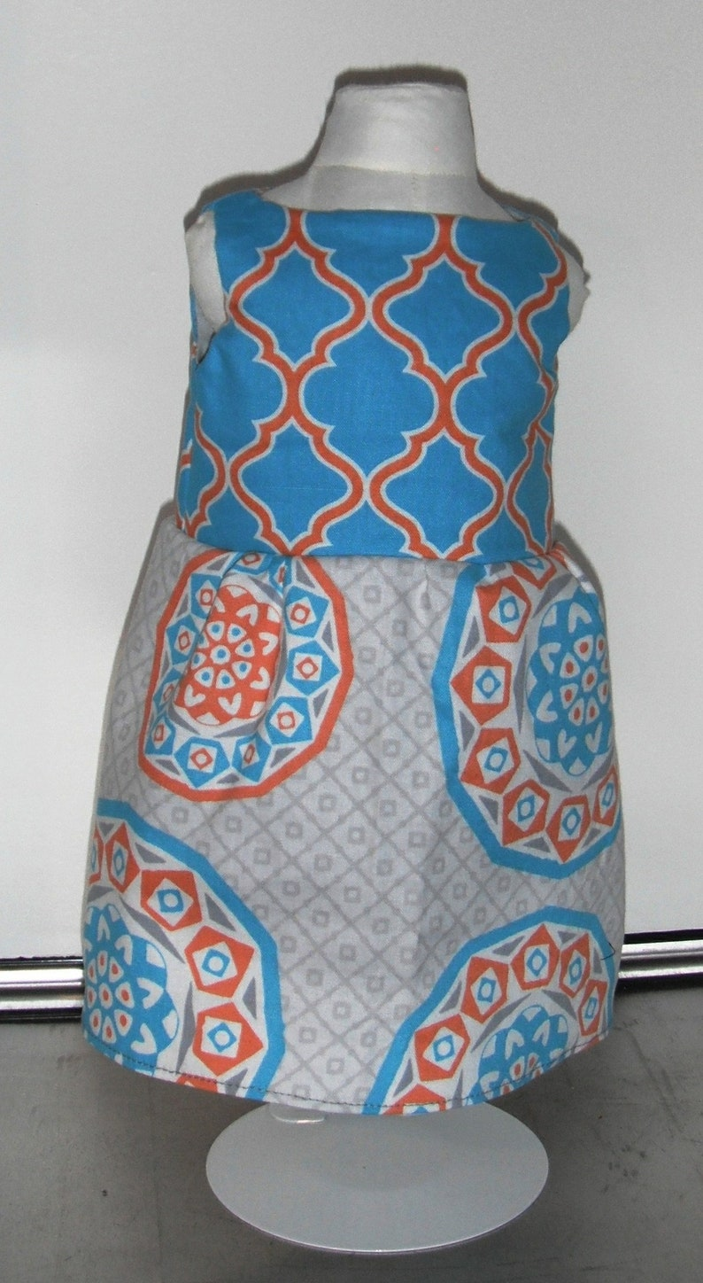 Turquoise Orange Gray Aztec Inspired  18 Doll Clothes image 0