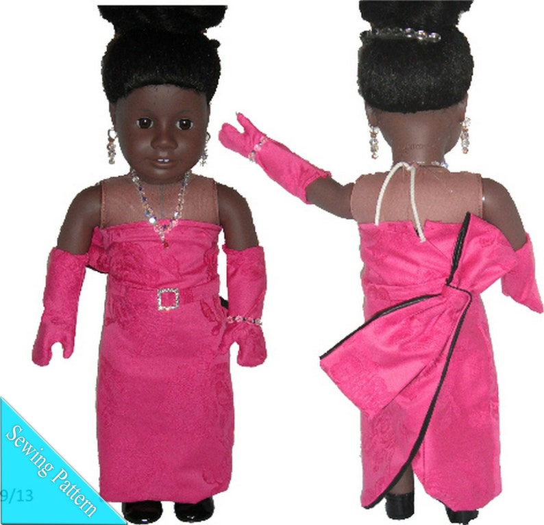 Hot Pink Diamonds Dress Sewing ePattern/PDF for 18 inch Doll image 0