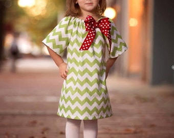 5b7d01e4e77d Toddler christmas dress chevron
