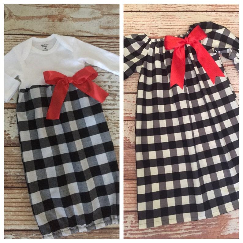 e5e6a8b5a Girl's Matching Christmas Dresses Sisters Cousins | Etsy