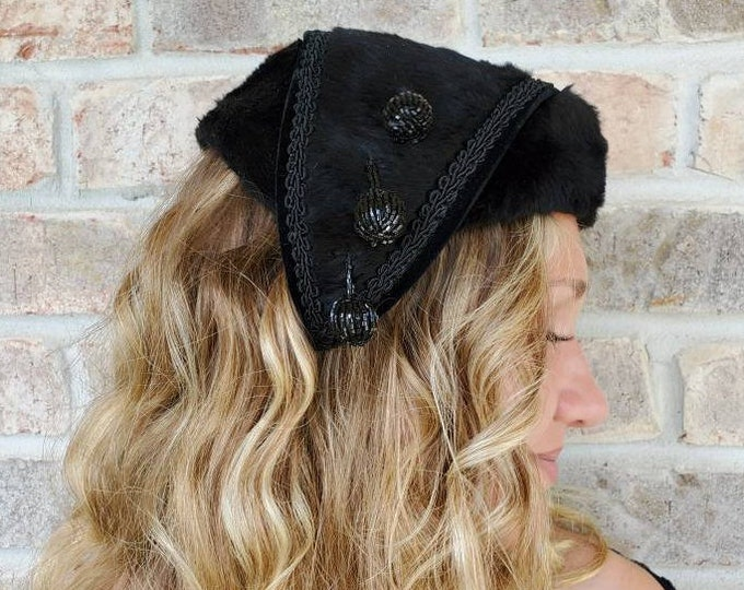 8ebc42f27dc0 Black fascinator Hat Half Hat Vintage Hat Black Fascinators Black Hats  Cocktail Hat Funeral Hat Church