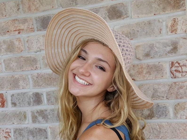 6c58346b Wide Brim Straw Hat Pink Sun Hat Floppy Hat Floppy Sun Hat | Etsy