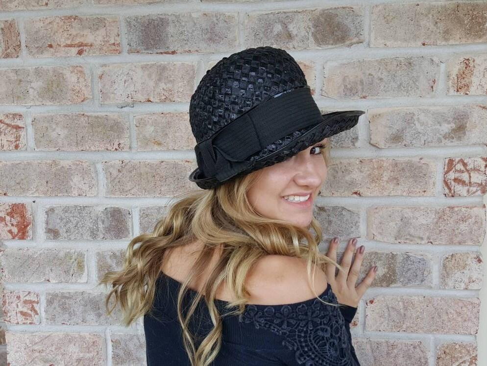 87103bd2dfe05 ... Black Vintage Fedora Hat With Black Patent Leather. gallery photo  gallery photo gallery photo gallery photo ...