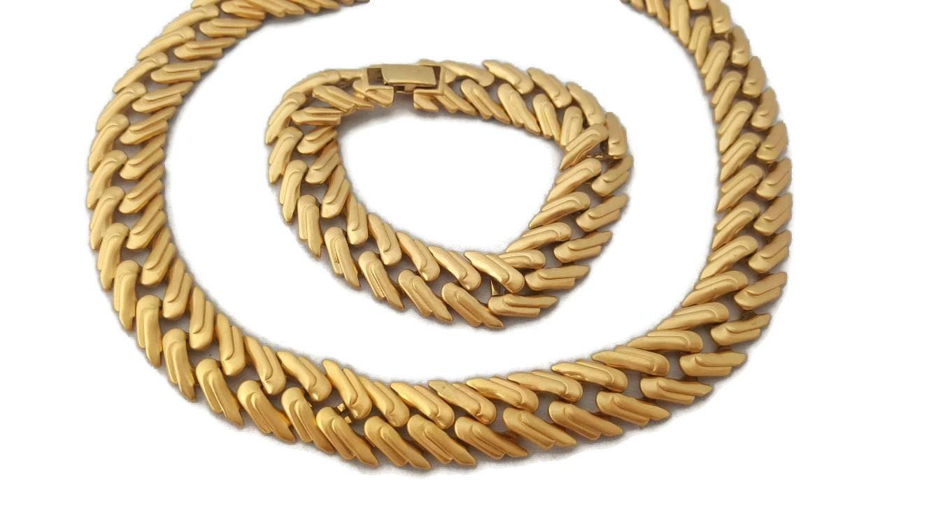Monet Jewelry Set Monet Gold Necklace And Monet Gold Bracelet