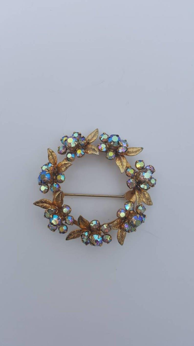 Jewelry Weiss CO N.Y. WEISS Jewelry Set Weiss Crystal Wedding Jewelry Vintage Bridal Jewelry Brooch Rhinestone Earrings Floral
