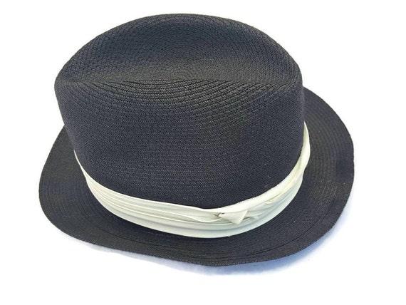 DOBBS Straw Hat Fedora Hat DOBBS Fedora Mens Hats Black  b48b5a4068c