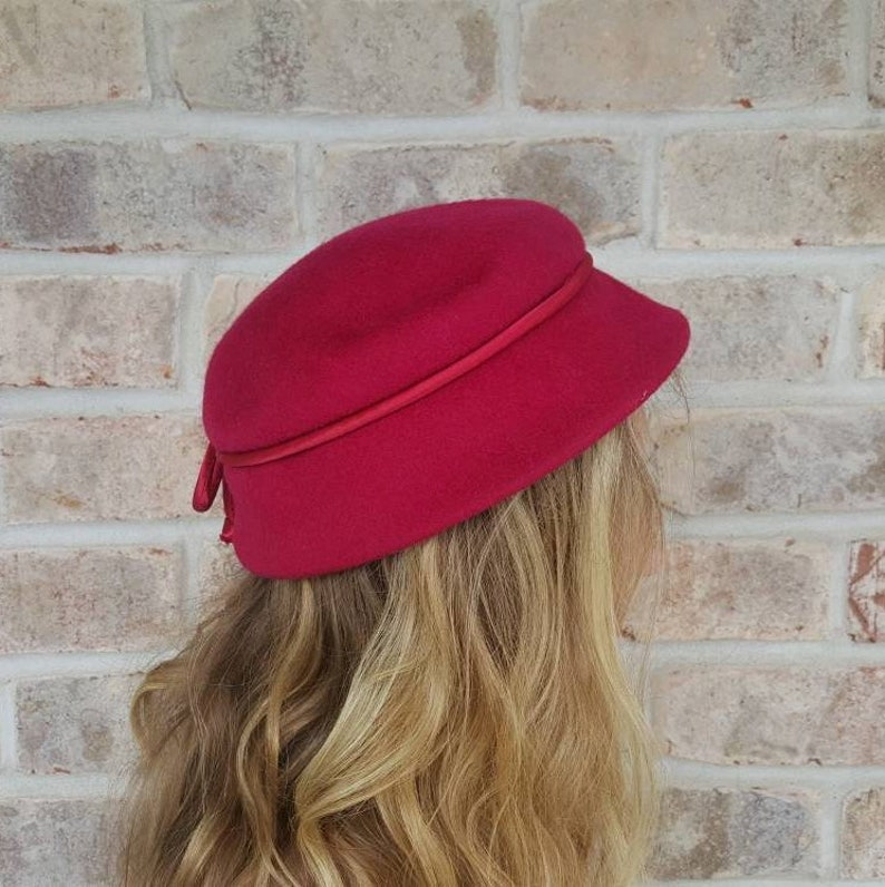 5dcdfe4b5dc61 Pink Pillbox Hat Vintage Hats Felted Wool Hats Fascinator