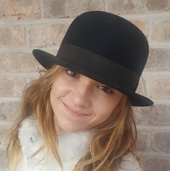 Mens Derby Hat Bowler Hat Bowler Derby Hat Mens Hats Wool  14dbd1129a1