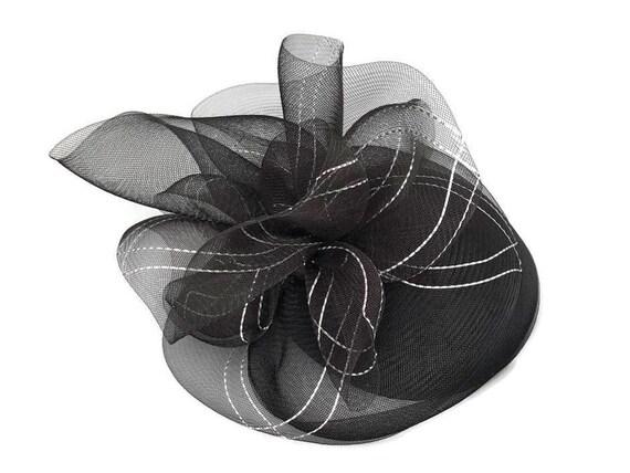 Black Fascinator Hat For Women Vintage Hats Elegan