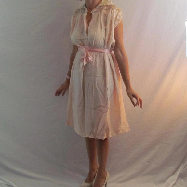 NOS Silk Nightgown Bergdorf Goodman Vintage Lingerie Pink Day Dress Silk Iris Victorian Nightgown 1920s Clothing Vintage Clothing