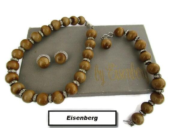 Eisenberg Jewelry Set,  Eisenberg, Enamel Jewelry,